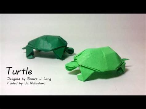 how to make an origami tortoise origami turtle robert j lang