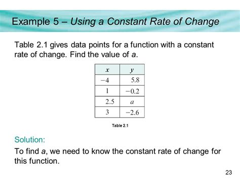 rate of change table rate of change in a table lesson 4 5 rate of change