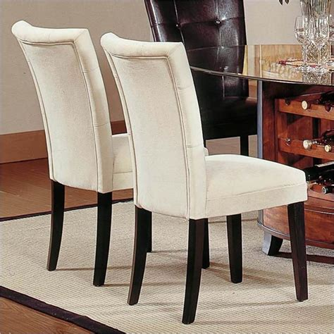 houzz dining chairs steve silver company matinee fabric dining parson chair in