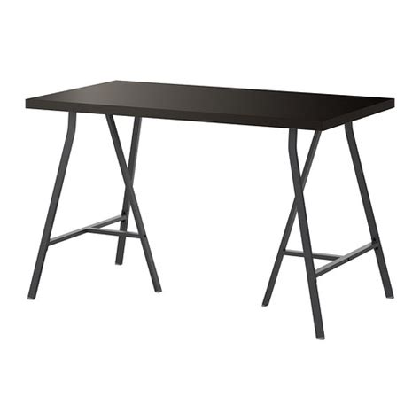 linnmon lerberg table black brown gray ikea