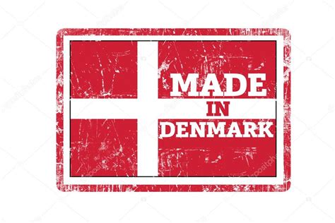 how to make a rubber st in word made in denmark word written on rubber st and flag with