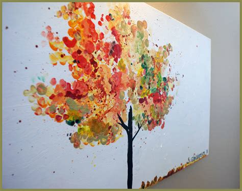 paint tree fall tree painting