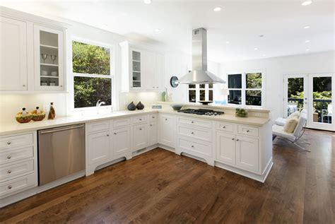 white kitchens with floors hardwood floors in the kitchen pros and cons designing