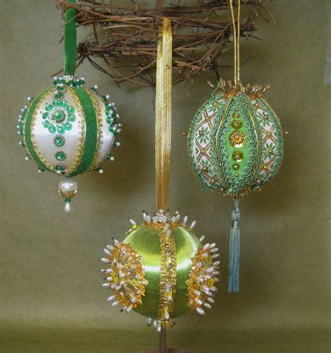 handmade beaded ornaments vintage handmade ornaments kitschy heavy beaded