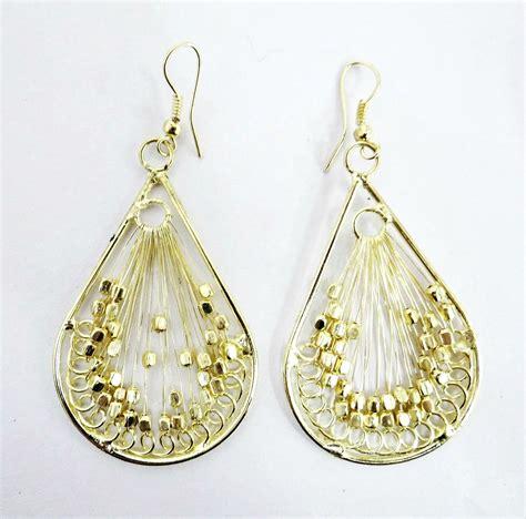 beaded earrings threaded earrings indiverve retail company inc