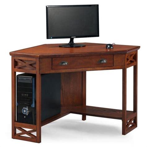 home computer desks uk leick furniture corner computer desk in oak 82431