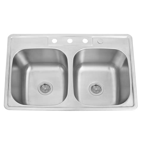drop in kitchen sinks stainless steel 33 quot infinite bowl stainless steel drop in sink 9
