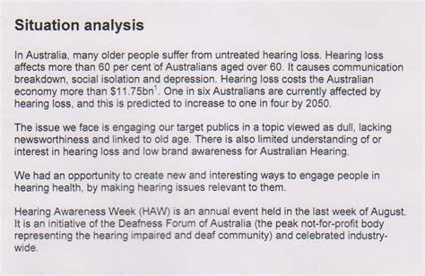 australian hearing s hearing awareness week campaign uts