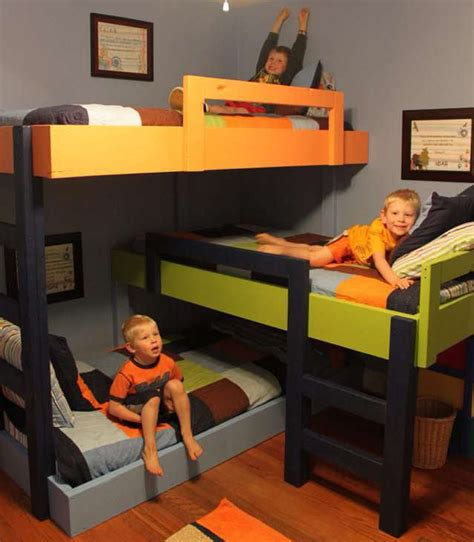 three way bunk bed id 233 e pour des lits superpos 233 s et disposition