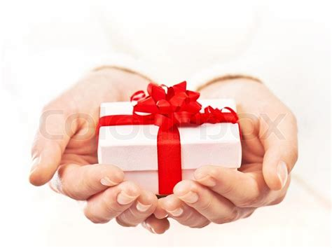 for to give as gifts holding beautiful gift box giving gift