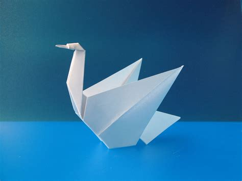 origami swans template origami swan