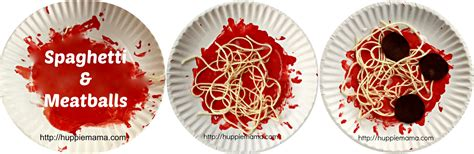 food crafts spaghetti meatballs craft huppie