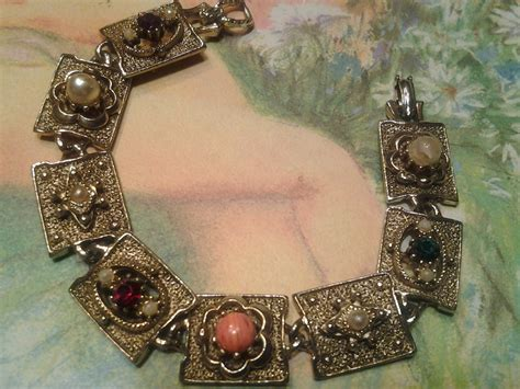 how to make costume jewelry vintage costume jewelry antique charm bracelet pearl