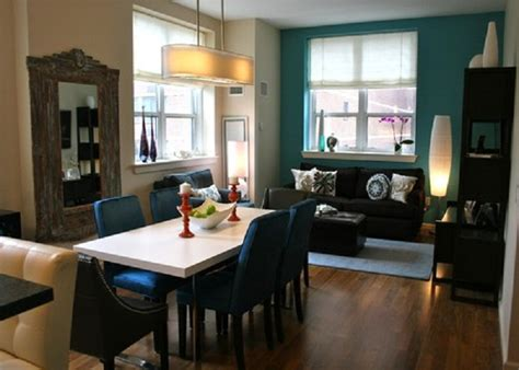 paint color ideas for living room accent wall painting open dining to living room with teal blue accent