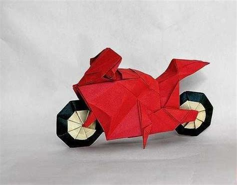 origami motorcycle ornament origami paper race bike origami