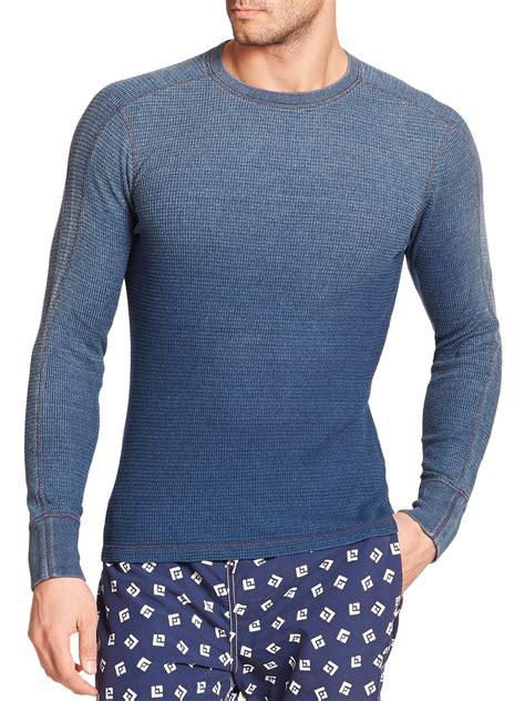 waffle knit sleeve polo ralph waffle knit sleeve crewneck in