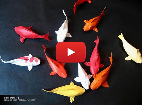 how to make origami fish simple koi fish origami of colorful fish