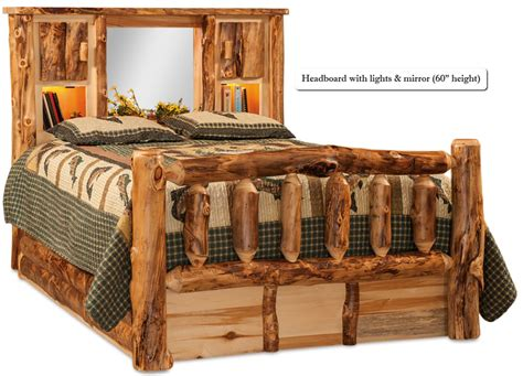 log frame beds buy a crafted american made rustic pine log bed with