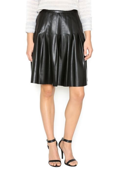leather pleated skirt tart clothing pleated faux leather skirt from chicago by notice shoptiques