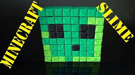Minecraft Slime Pixel Origami Paper Craft Minecraft