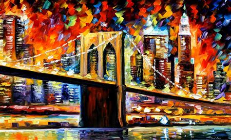 paint nite nyc locations bridge palette knife painting on canvas