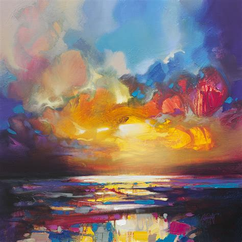 whole painting naismith landscape northern lights bright