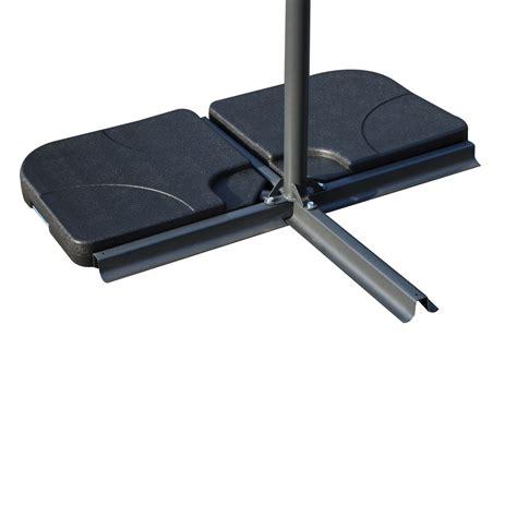 outsunny 4 offset patio umbrella base weight set