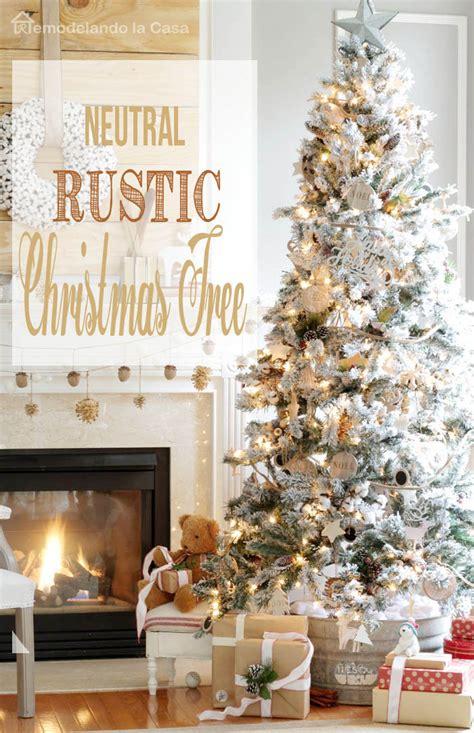 rustic decorated trees remodelando la casa rustic tree