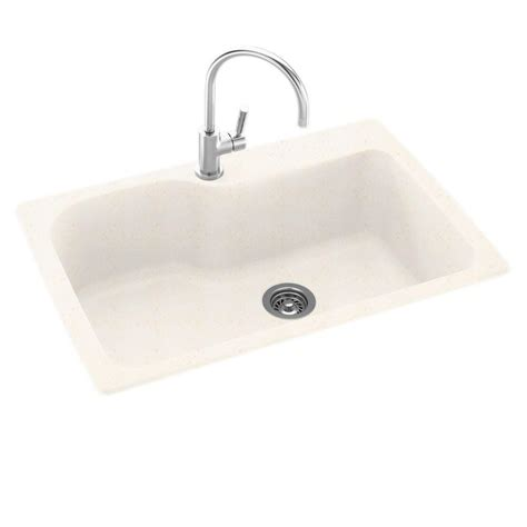 swanstone single bowl kitchen sink swanstone dual mount composite 33 in 1 single bowl