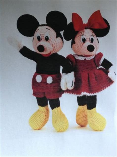 minnie mouse doll knitting pattern mickey and minnie mouse crochet knitting pattern ebay