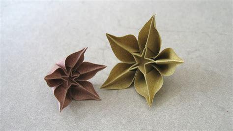 origami flower carambola origami carambola sprung
