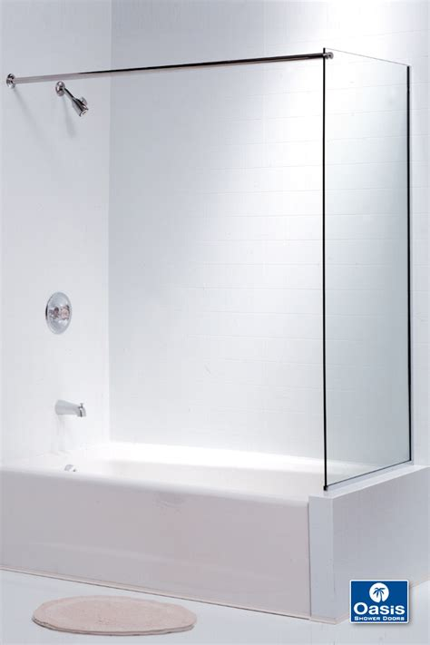 Frameless Tub Shower Doors frameless glass shower spray panel oasis shower doors ma