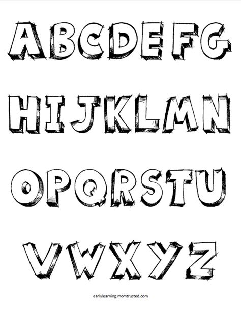 6 best images of printable block letters alphabet large