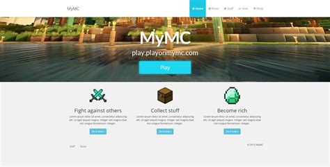 craft websites for mymc free minecraft website template by rodymol123 on