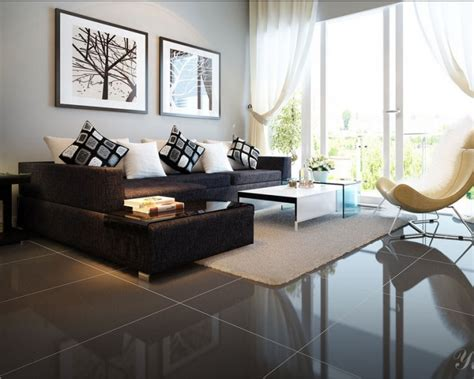 living room design with black leather sofa black sofa interior design living room ideas with black