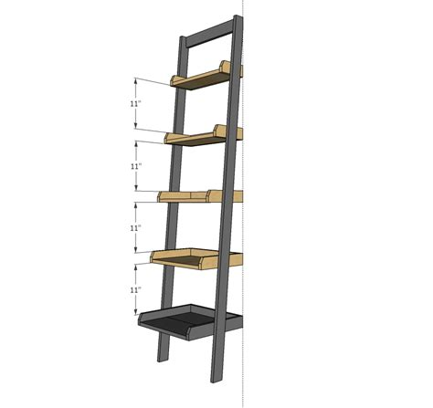 leaning ladder shelves white leaning ladder wall bookshelf diy projects