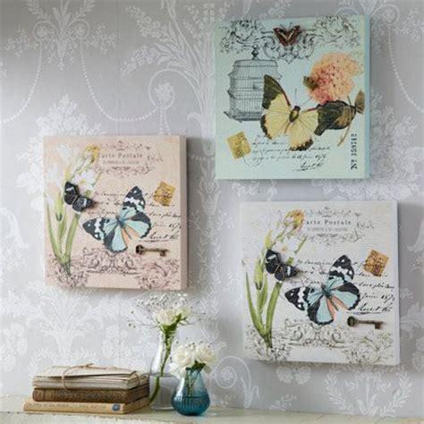decoupage on canvas ideas 3d carte postale butterfly plaques set of 3 decoupage