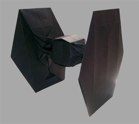 origami tie fighter origami tie fighter boing boing