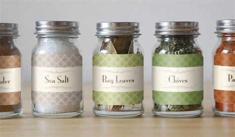 Glass Kitchen Canister Set custom spice labels and jar labels stickeryou products