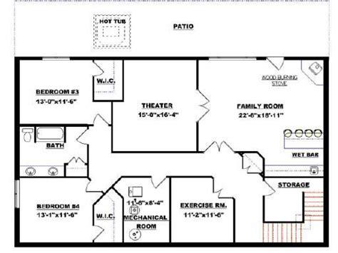 basement layouts small modular homes floor plans floor plans with walkout basement bungalow basement floor plans