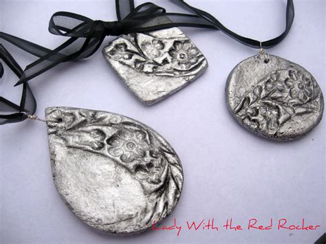dough jewelry handcrafted pendants with the rocker