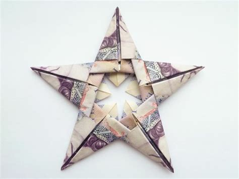 canadian money origami modular money origami from 5 bills how to fold step