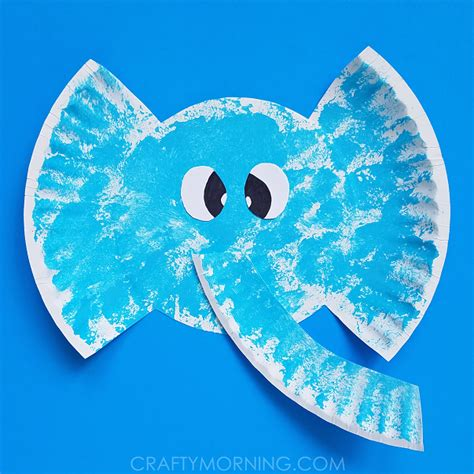 crafts with white paper paper plate elephant craft crafty morning
