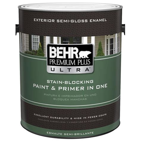 behr exterior paint with primer colors behr premium plus ultra 1 gal ultra white semi gloss