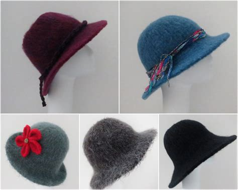 how to felt a knitted hat four of my felted hat patterns 205 flat brim hat using