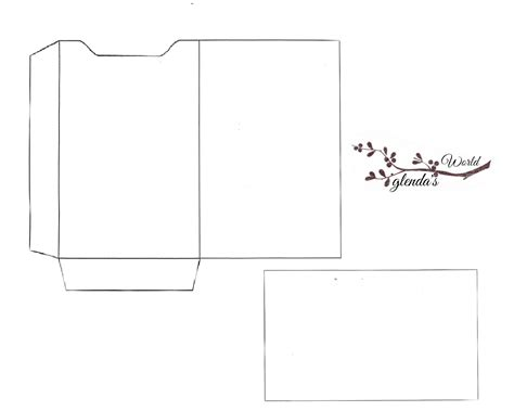 template to make a card glenda s world gift card sleeve with card
