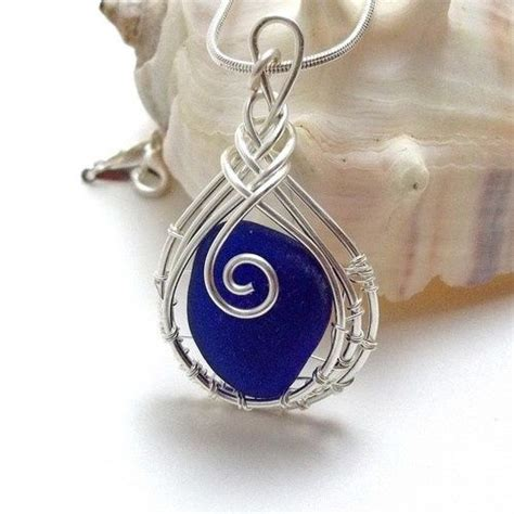 sea glass jewelry how to make wire wrapped sea glass pendant for