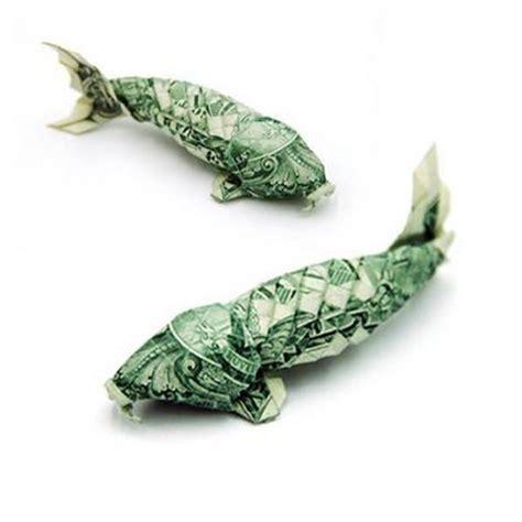 money fish origami folding money the of origami meets dollar bills pix