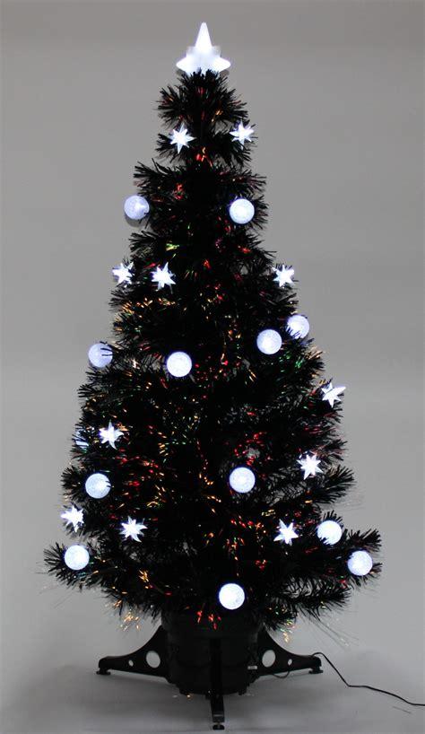 6ft black fibre optic tree tree 4ft 5ft 6ft black fibre optic and