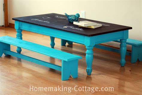 chalk paint bench ideas make a kid s chalkboard table with benches homemaking